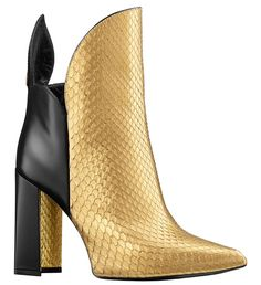 Louis Vuitton  Bottine en cuir de veau et python