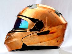 Masei 815 Orange IceChrome Modular Flip-Up Motorcycle Helmet (Custom Order) - Free Ship