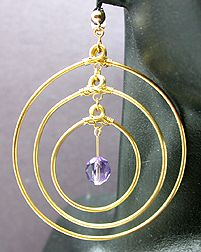Hardening wire wrappings, Runway Jewelry Wire and Beads Earrings Jewelry Making Project