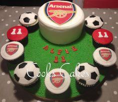 Arsenal cake, boys cake, football cake