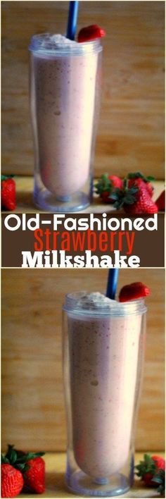 Beat the Summer heat with an Old-Fashioned Strawberry Milkshake!  Is there anything better than a milkshake?  With just 4 ingredients, it is our favorite Summer treat!