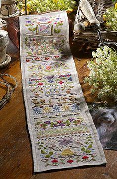 Charlie's Secret Garden Band Sampler chart & embellishment pack ~ the Cross Stitch Guild / Jane Gree