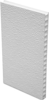 FiberCorr™ wall and ceiling panels consist of a Fiberglass Reinforced Plastic (FRP) overlay that is factory laminated to a corrugated plastic core