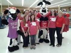 The @Chick-fil-A cows came to support our NW Expressway location during the #tornado victim bake sale this past weekend.