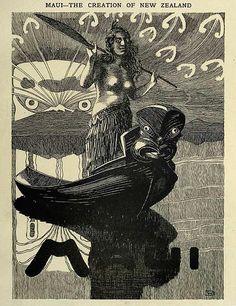 Wilhelm Dittmer - Te Tohunga 1907 - Maui and the Creation of New Zealand