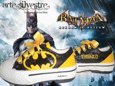 zapatillas customizadas Batman www.artesilvestre.com.ar