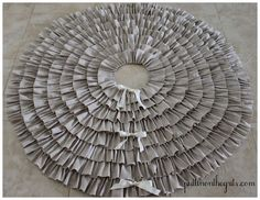 DIY ruffle christmas tree skirt. would be pretty in red or with burlap