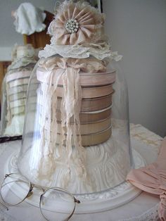 shabby chic ribbon decor