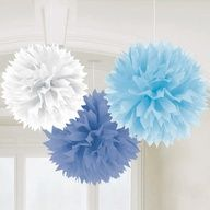 Hanging Decoration - Fluffy - Baby Shower, Boy