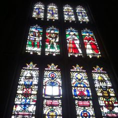 Stained glass window in St. George's Chapel at Windsor Castle