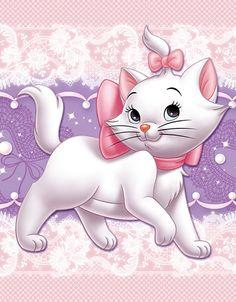 marie, Disney, cat, the aristocats Gatos Disney, Disney Cats, Disney Cartoons, Disney Pixar, Cute Disney Wallpaper, Cartoon Wallpaper, Marie Cat, Gata Marie, Winnie