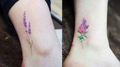 kleine-tattoos-bunte-ideen-blumen-wiesenblumen-romantisch-fuß