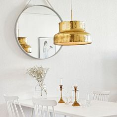 Scandinavian Home Accessories In Gold Make Your Home Shine Scandi Living, Home And Living, Living Room, Dining Room Inspiration, Interior Inspiration, Hm Deco, Interior Decorating, Interior Design, Decorating Ideas