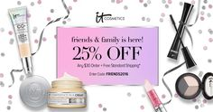 Shop the semi-annual IT Cosmetics Friends & Family event through 4/15/16. Restrictions apply. #entry