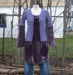 Simply Anika, Upcycled Tunic, Upcycled Clothing, Recycled Sweaters, Size Small/Medium. $39.00, via Etsy.
