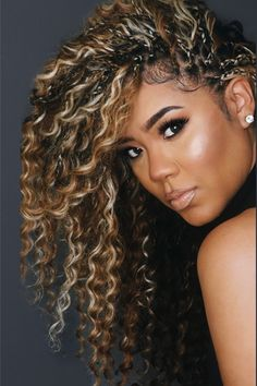Braids With Curls, Micro Braids, Braids For Black Hair, Girls Braids, Braids Hairstyles Pictures, Crown Hairstyles, Ponytail Hairstyles, Pretty Hairstyles, Natural Braided Hairstyles