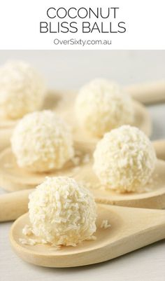 Coconut Bliss Balls - a simple, delicious snack to whip up and keep in the fridge or freezer for when you need something sweet.