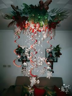 Decorations are an important portion of party planning, as they set the proper tone for the occasion. Decoration of the venue largely is dependent upo. Christmas Mantels, Felt Christmas, Simple Christmas, Christmas Holidays, Christmas Crafts, Christmas Ornaments, Christmas Ceiling Decorations, Christmas Chandelier, Christmas Lights