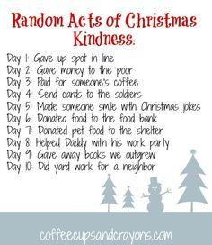 random+acts+of+kindness+for+Christmas | 10 Random Acts of Christmas Kindness for Kids | amazing
