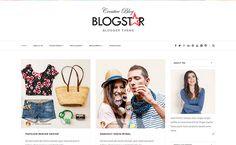 Blogstar Blogger Template é um template blogger com layout responsivo, simples e limpo, perfeito para uma variedade de propósitos. Ele é um tema ideal para blog criativo, feminino, modas e muito mais. Se você procura modelo profissional, então esta é uma boa opção para você!.
