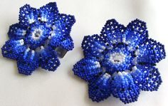Pair of Mexican Huichol Beaded Flower Barrettes by Aramara on Etsy Flower Hair Clips, Flowers In Hair, I Shop, My Etsy Shop, Pairs, Beads, Trending Outfits, Unique Jewelry, Handmade Gifts