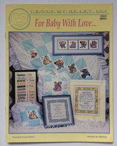 Vintage Cross Stitch booklet  For Baby with Love by Melinda