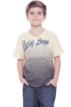 9571ea53b Amazon.com: Boys T-Shirt Graphic Tee V-Neck Summer Top Kids Clothing 2-10  Years Pulla Bulla: Clothing