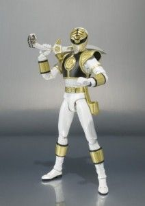 "Bandai Tamashii Nations ""Mighty Morphin Power Rangers"" White Ranger S.H. Figuarts Action Figure"