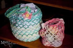 Bags, purses, duffels, wallets, backpacks and baskets. I love containers. It's a strange obsession and I cannot properly explain it, but one of the best reasons to learn to crochet, knit or sew is to create bags, and bags and bags. This is a simple bag, it works up quickly and it stretches to accommodate...