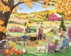 Vermont Christmas Company Countryside Autumn Jigsaw Puzzle 1000 Puzzle >>> Find out more about the great product at the image link. (This is an affiliate link) Christmas Jigsaw Puzzles, Fall Shows, Country Art, Autumn Theme, Autumn Fall, 1000 Piece Jigsaw Puzzles, Countryside, Folk Art, Illustrations
