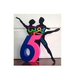 Jhonny Descamps  Interacción 6 y 5, pareja-baile, 2016  Materiales: Hierro, acrílico y MDF.  Medidas: 46X35x6 cms.  Con Certificado
