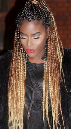 37 Best Black And Blonde Box Braids Pictures And Tips, braids hairstyles Black To Brown To Blonde Ombre Box Braids Brown Box Braids, Ombre Box Braids, Short Box Braids, Blonde Box Braids, Poetic Justice Braids, Box Braids Hairstyles, Ladies Hairstyles, Side Hairstyles, Summer Hairstyles
