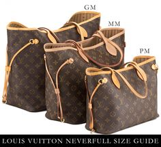Size Comparison Of The Louis Vuitton Neverfull Bags Small Pm