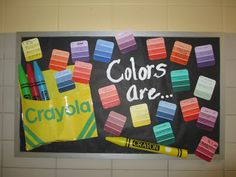 """would love to do this with """"use colorful vocabulary"""" with different advanced vocabulary words on the paint samples"""