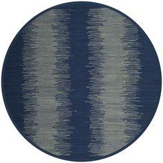 Safavieh Hand-Woven Montauk Flatweave Navy (Blue) Cotton Rug (6' Round) (MTK718H-6R), Size 6'