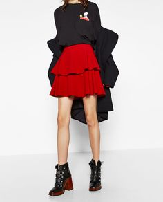Image 2 of MINI SKIRT WITH FRILLS from Zara