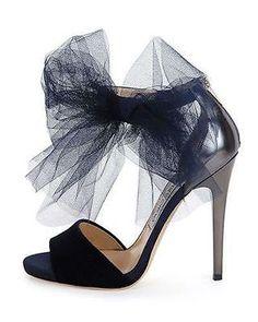 693e1edc6539 Jimmy Choo Blue  Lilyth 100  Tulle Bow Velvet Sandals