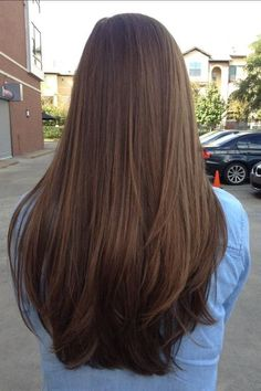 30 Most stylish and valuable long brown hair - hair inspiration - Haircuts Straight Hair, Long Face Hairstyles, Hairstyles Haircuts, Wedding Hairstyles, Haircut Long Hair, Brown Straight Hair, Balayage Straight, Braided Hairstyles, Funky Hairstyles