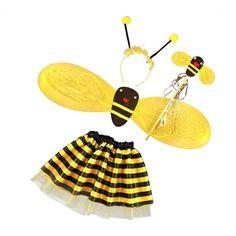 Cute Bumble Bee Honey Girl Kid Fairy Fancy Dress Up Party Costume Set Decor  | eBay