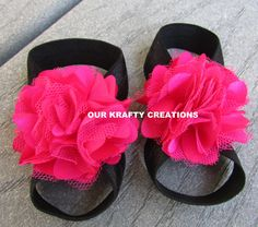 Pink Baby Sandals, Baby Girls Sandals, Baby Sandals, Newborn Sandals, Baby Foot Wear, Barefoot Sandals, Photo Shoot Prop by OurKraftyCreations on Etsy