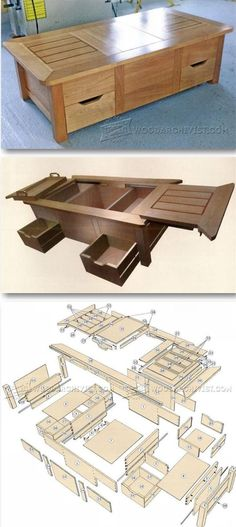 DIY Furniture Plans & Tutorials : Coffee Table Plans Furniture Plans and Projects | WoodArchivist.com #WoodworkingPlans