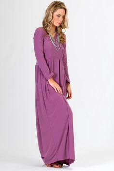 Long Sleeve Maxi Dress - Lilac