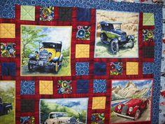 vintage car quilt