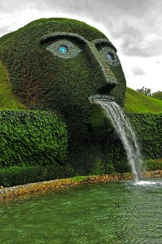 Swarovski Kristallwelten, Wattens, Austria - what a cool garden, fountain LOL