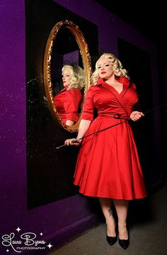 Dying over this red plus size PinUp Girl Clothing dress!  I want!!