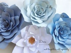 Paper flower DIY Templates   PaperFlora