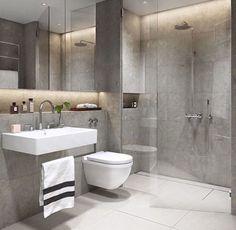 Small bathroom ideas grey tiles bathroom ideas grey grey modern bathroom ideas plain on in best bathrooms images 2 bathroom design Bathroom Layout, Modern Bathroom Design, Bathroom Interior Design, Bathroom Designs, Modern Design, Interior Ideas, Bathroom Colors, Bath Design, Modern Toilet Design
