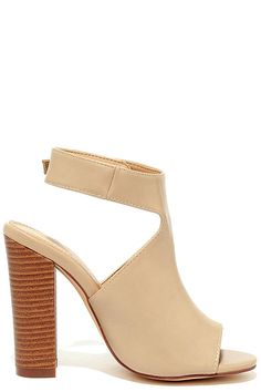 Somehow Someway Beige Peep-Toe Booties at Lulus.com!