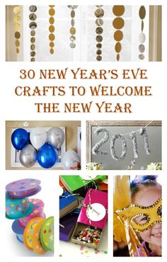 30 Wonderful New Years Eves Crafts - it is really tricky to find good and fun ideas for New Year's Eve, but this list is just perfect! New Year's Eve Crafts, Holiday Crafts, Holiday Fun, Crafts For Kids, Holiday Parties, Kids New Years Eve, New Years Party, New Year's Eve Celebrations, New Year Celebration