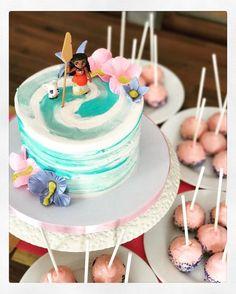 Top of Cake - Moana 3rd Birthday Cakes, Moana Birthday Party, Moana Party, Adult Birthday Party, Luau Party, Birthday Ideas, Cake Disney, Beach Cakes, Custom Cakes